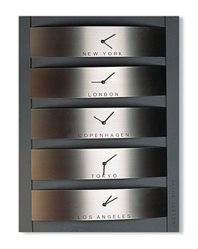 jacob jensen stainless steel world timer
