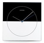 jacob jensen black and silver classic wall clock