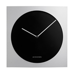 jacob jensen silver and black 318 wall clock