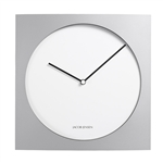 jacob jensen silver and white 319 wall clock