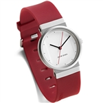 jacob jensen red strap for new & titanium watches