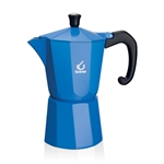 forever super colour blue 6 cup espresso pot