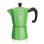 forever super colour green 6 cup espresso pot