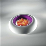 mebel 24 x 24 x 4cm purple entity 2 round dish