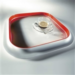 mebel 36 x 36 x 3cm red entity 6 square tray
