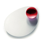 mebel entity 13 white oval plate with red dip bowl
