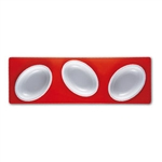 mebel entity 17 set of 3 white bowls on red rectangular tray