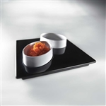 mebel entity 19 set of 2 white bowls on black square tray