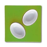 mebel entity 19 set of 2 white bowls on green square tray