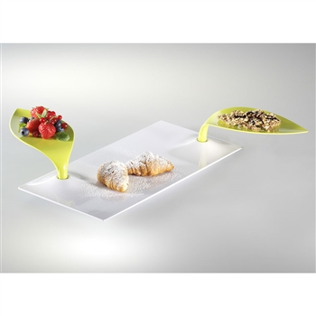 mebel entity 24d white breakfast plate with green mini plate
