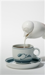 po: bird creamer - white ceramic