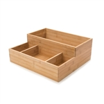 rosseto large bamboo condiment tray bakery building block