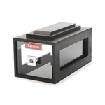 rosseto small black acrylic drawer bakery building block