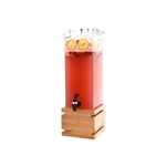 rosseto 2 galon square beverage dispenser with bamboo base