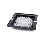 rosseto 14in square swan ice tub black acrylic