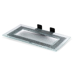 rosseto green glass plate with matt black frame for skycap risers