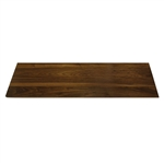 rosseto walnut wide rectangle surface