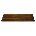 rosseto walnut narrow rectangle surface
