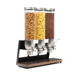 rosseto set of 3 ez-serv free standing tubes with walnut drip tray