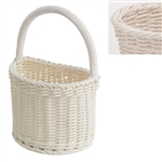 saleen white half round bathroom basket