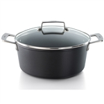 valira 24cm aire non stick tall casserole pan with glass lid