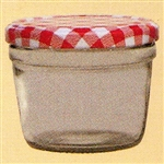 uwo wolf pack of 6 x 235ml tapered preserving jars with red lids