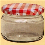 uwo wolf pack of 6 x 270ml barrel preserving jars with red lids