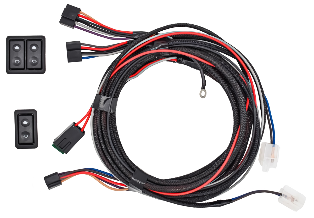 Black Illuminated Switches with Wire Harness for Door