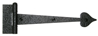 "ACORN - HEART STRAP HINGE - 9"" - BLACK IRON"
