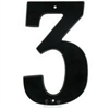 "NUMBER - 3 (THREE) - 7"" - MATTE BLACK"