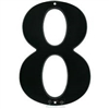 "NUMBER - 8 (EIGHT) - 7"" - MATTE BLACK"