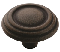 AMEROCK - TRIPLE RING KNOB - ANTIQUE RUST