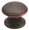 "AMEROCK - HINT OF HERITAGE KNOB 1 1/4"" DIAMETER - OIL RUBBED BRONZE"