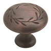 AMEROCK - NATURE'S SPLENDOR - LEAF OVERSIZED KNOB - OIL RUBBED BRONZE