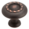 INSPIRATIONS ROPE KNOB-OIL RUBBED BRONZE