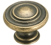 INSPIRATIONS 3 RING KNOB-WEATHERED BRASS
