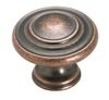 AMEROCK - INSPIRATIONS 3 RING KNOB-WEATHERED COPPER
