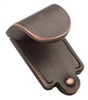 "AMEROCK - INSPIRATIONS - PLAIN FINGER PULL - 1 7/8""- OIL RUBBED BRONZE"