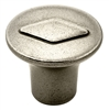 AMEROCK - GALLERIA DIAMOND KNOB-ANTIQUE NICKEL