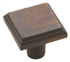 "AMEROCK - MANOR KNOB - 1 1/16"" DIAMETER - OIL RUBBED BRONZE"
