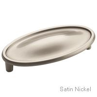 "AMEROCK - MANOR - CUP PULL - 3"" C-TO-C - SATIN NICKEL"
