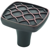 AMEROCK - MARSDEN - KNOB - SQUARE - OIL RUBBED BRONZE