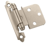 "AMEROCK - 3/8"" SELF-CLOSING INSET HINGE PAIR - SATIN NICKEL"