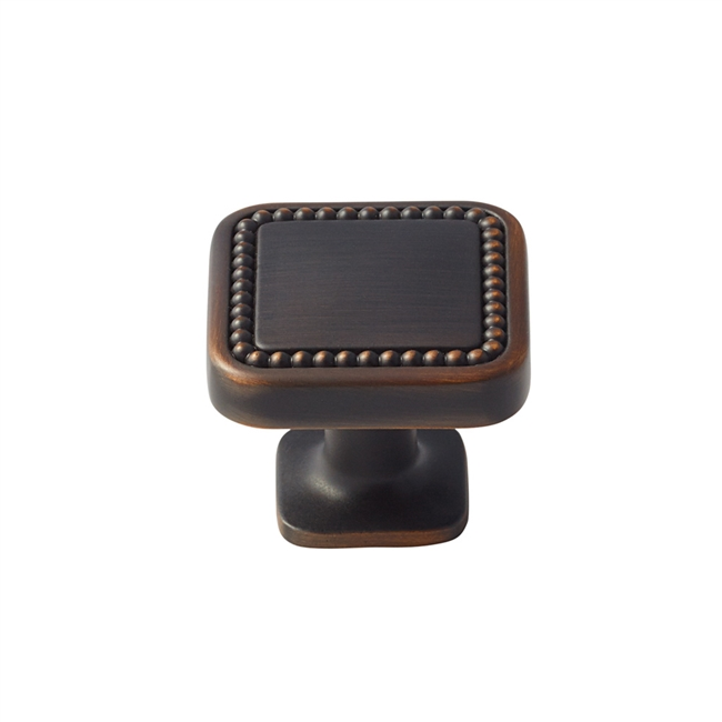 AMEROCK - CAROLYNE - RECTANGLE KNOB - OIL RUBBED BRONZE