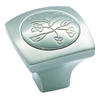 AMEROCK - ROYAL LEAF - KNOB - SATIN NICKEL