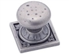 AMBROSIA KNOB ON SQUARE PLATE-WEATHERED NICKEL
