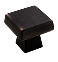 AMEROCK - BLACKROCK - SQUARE KNOB - OIL RUBBED BRONZE