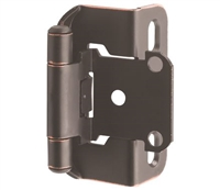 "AMEROCK - 1/2"" Overlay - Partial Wrap Hinge PAIR - OIL RUBBED BRONZE"