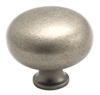 "AMEROCK - TRADITIONAL CLASSICS - KNOB - 1 1/2"" DIAMETER - WEATHERED NICKEL"