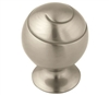 "AMEROCK - SWIRL'Z - OVERSIZED KNOB - 1 1/2"" DIAMETER - SATIN NICKEL"